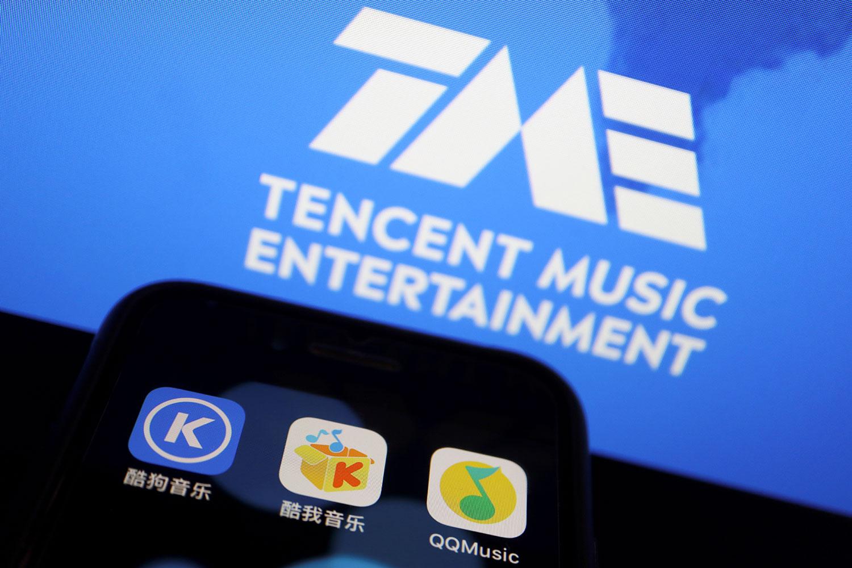 腾讯旗下音乐平台,将于一个月内交出独家版权。图为,腾讯音乐娱乐集团音乐平台:酷狗音乐、酷我音乐、QQ音乐。(路透社)
