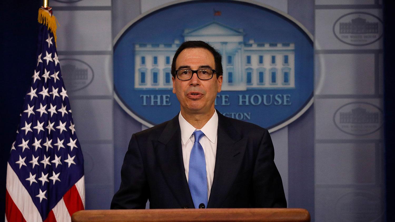 美国财政部长姆努钦说,特朗普可随时与中国达成贸易协议,但美方有两手准备。(资料图/路透社)
