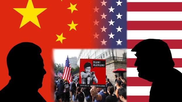 美中在香港问题上角力,美中贸易谈判出现变数。(组合资料图片/美联社/RFA普通话部)