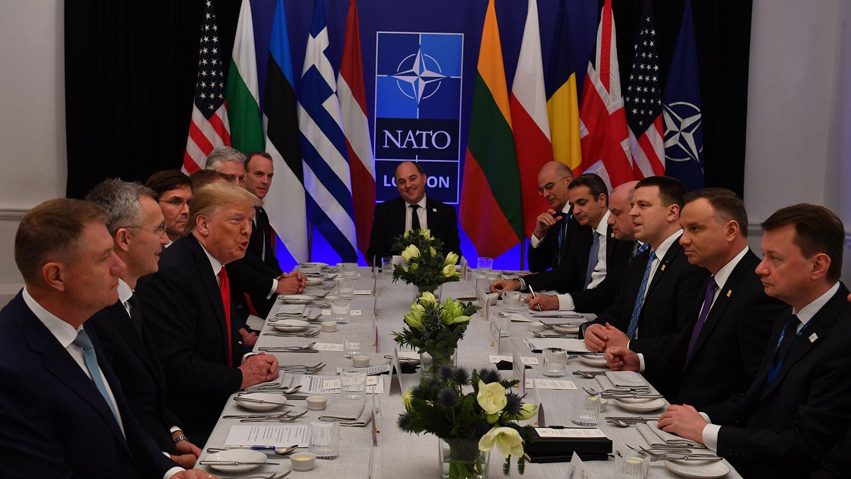 2019年12月4日,北约峰会在伦敦达成一份结束性声明。盟友重申相互支持的立场,指出中国是新的挑战。(法新社)