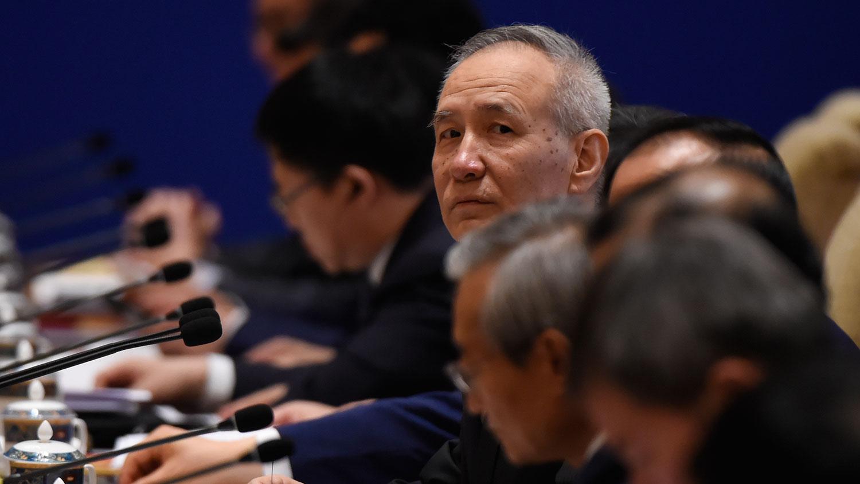中國談判代表劉鶴(AFP)