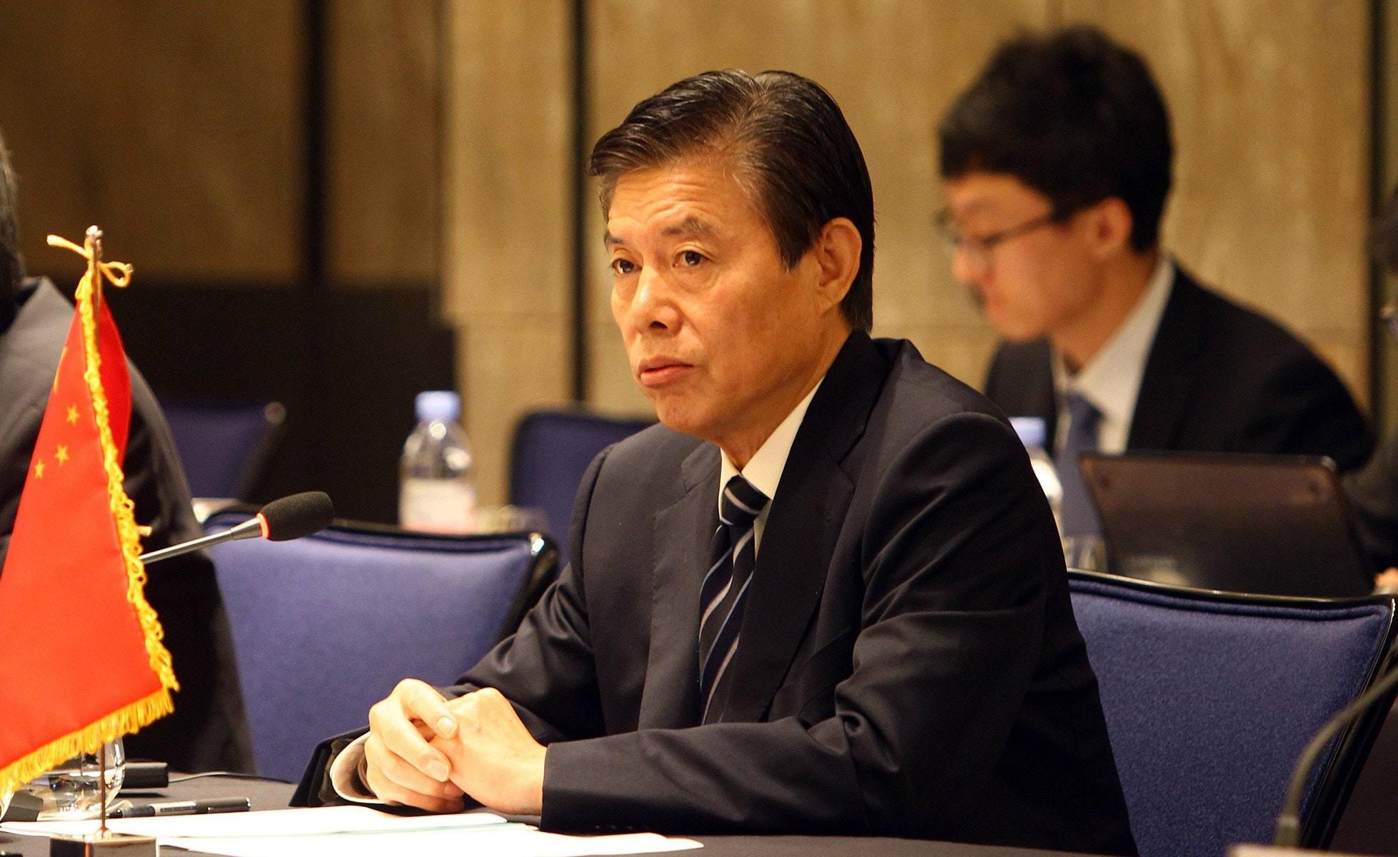 中国贸易谈判代表团中增加了被指强硬派人物的钟山。(Public Domain)