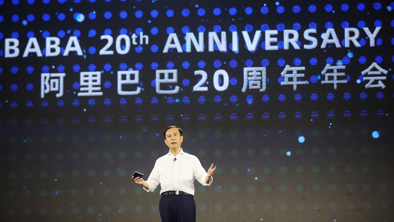 2019年9月10,阿里巴巴集团集团20周年年会上,首席执行官张勇。(路透社)