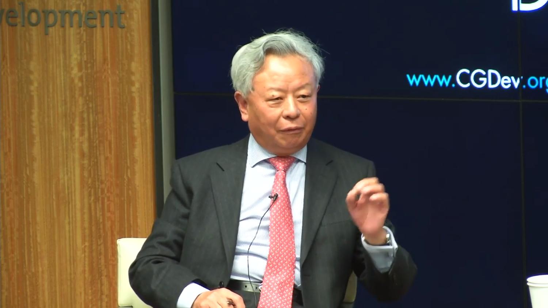亚洲基础设施投资银行行长金立群(记者家傲摄)