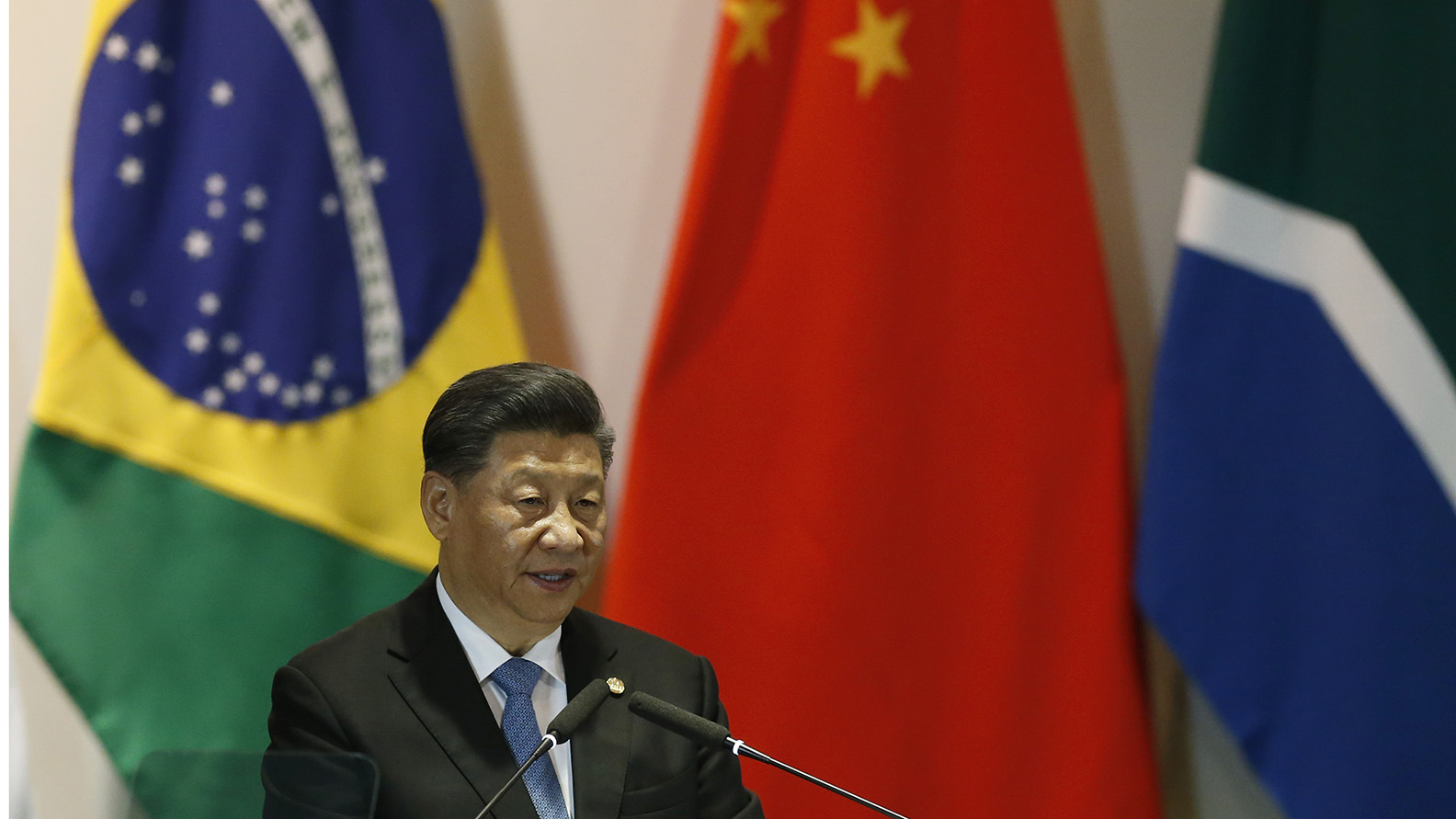 中国国家主席习近平2019年11月14日在巴西对香港局势强硬表态。(美联社)