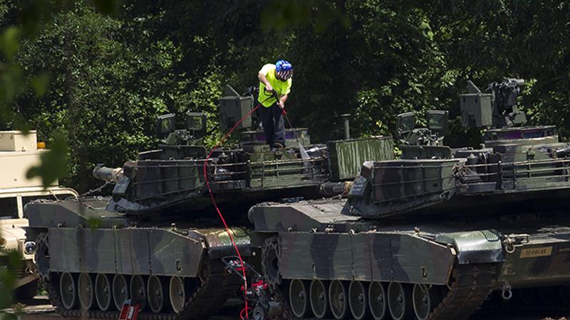 美国将向台湾出售的艾布拉姆斯(Abrams)坦克(美联社)