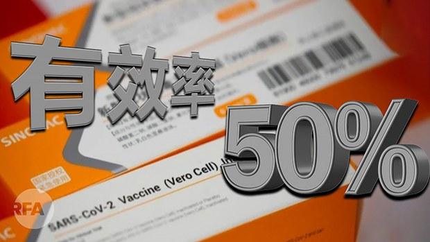 中國疫苗有效力僅百分之五十    專家:條件允許首選美國疫苗