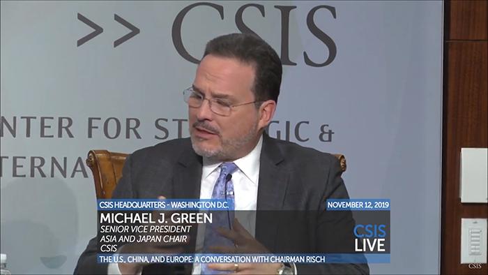 """美国华盛顿智库""""战略与国际研究中心""""负责人之一格林(视频截图)"""