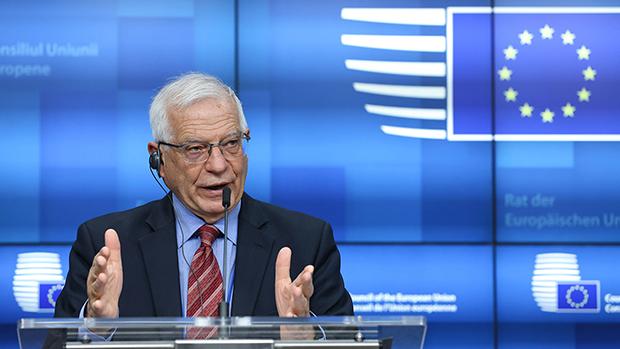 2021年3月22日,欧洲联盟外交安全政策高级代表博雷利(Josep Borrell )宣布对中国的制裁。(美联社)