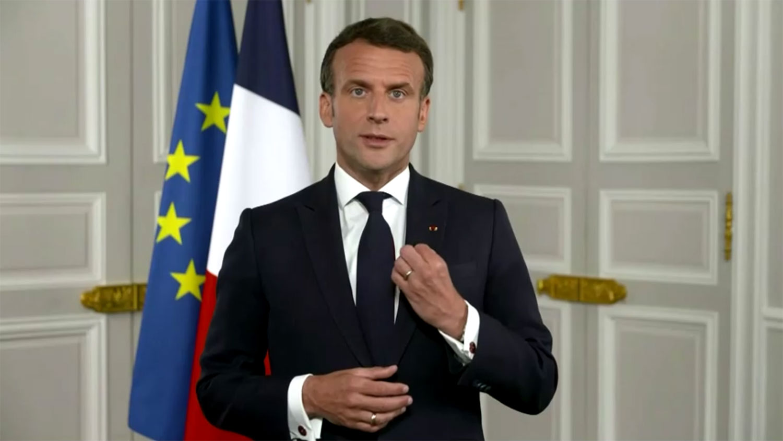 世界卫生大会24日开幕,世卫邀请法国总统马克龙等各国领袖演讲。马克龙表示支持世卫专家就武汉肺炎病毒的疫情起源,进行更透明及独立的调查。(路透社视频截图)