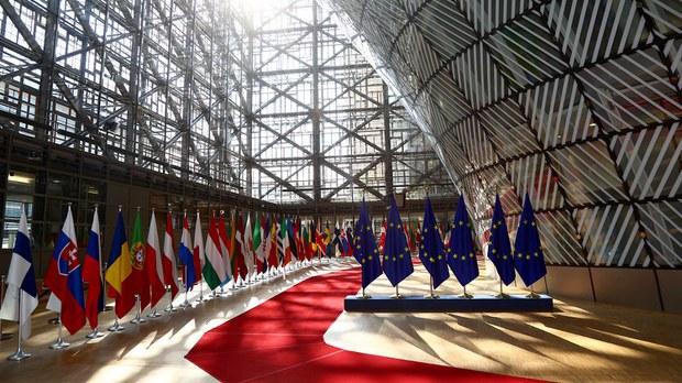 欧洲各国国旗与欧盟旗帜(photo:RFA)