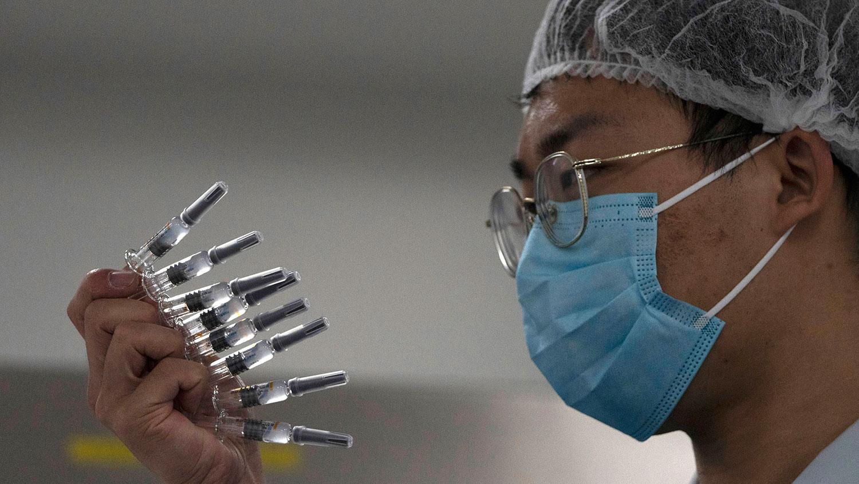 中国目前已有四种新冠病毒疫苗进入第三期临床试验。(AP)