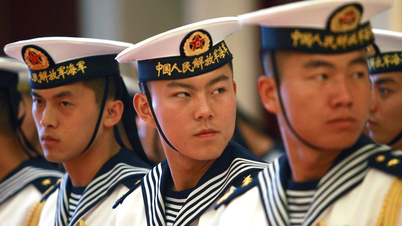 图为中国人民解放军海军。(美联社)