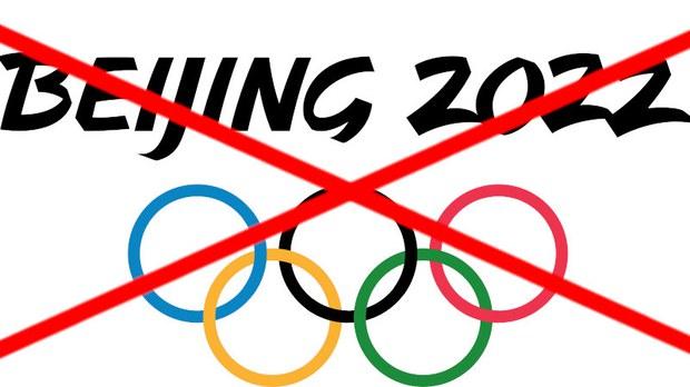 一幅抵制北京冬奥的宣传画(change.org)