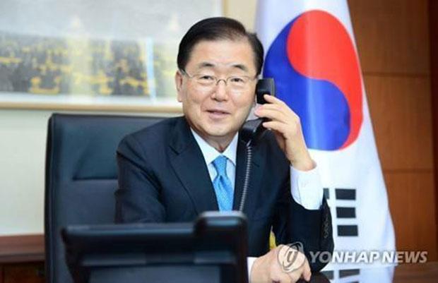资料图片:韩国外交部长官郑义溶。 (韩联社)