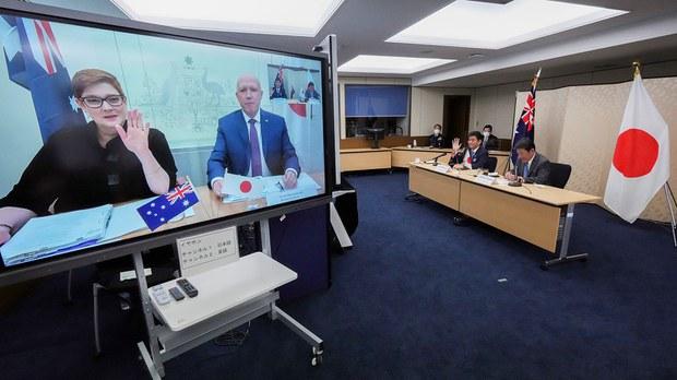 日澳2+2声明关注台海和平   凸显美日澳三方协作强化