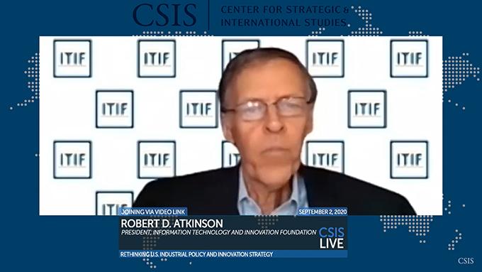 美国智库信息技术与创新基金会(ITIF)主席阿特金森 (Robert Atkinson) 在讨论会上发言(视频)