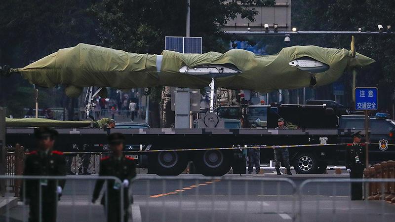 将在阅兵中亮相的一款中国无人机(美联社)