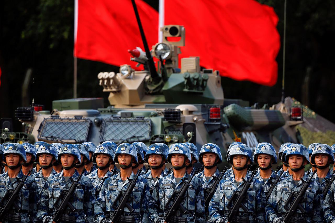 中國大陸解放軍。(路透社)
