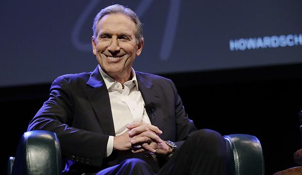 美国星巴克公司前首席执行官、名誉主席舒尔茨(Howard Schultz)(美联社)