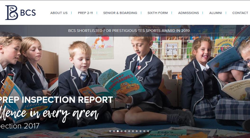 百年老校伯恩茅斯学校(Bournemouth Collegiate School)。(网站截图)
