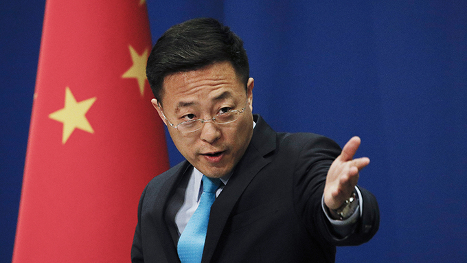 中国外交部发言人赵立坚(美联社)