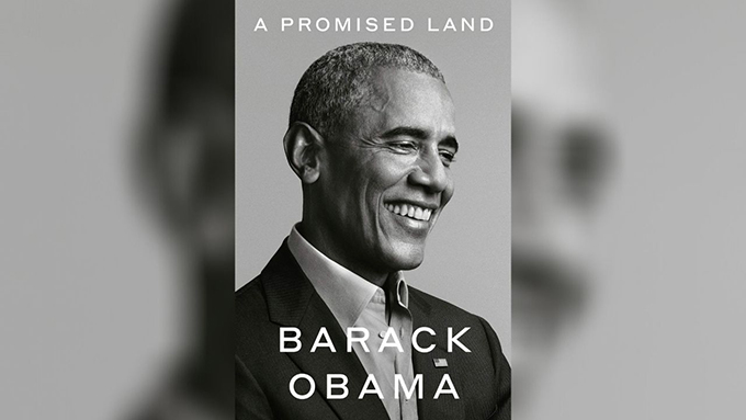 美国前总统奥巴马回忆录《应许之地》封面截图(PIX11NEWS)