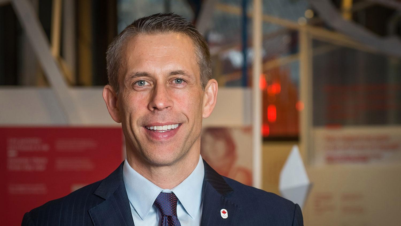 加拿大奥委会主席舒梅克(David Shoemaker)认为抵制奥运不是解决方法。    (加拿大奥委会网站)