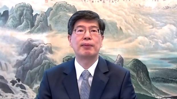 中国驻加拿大大使丛培武称拘捕两名加拿大人与孟晚舟案件无关    (视讯会议截图)