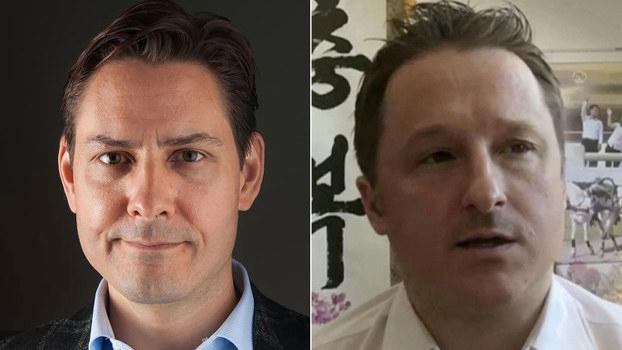 被中国羁押的加拿大公民康明凯(左)与斯帕弗(右)(法新社/美联社)