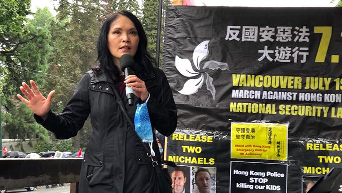 加拿大华裔国会议员关慧贞忧虑自己到香港也会被拘捕  (柳飞摄)