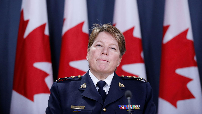 加拿大皇家骑警总长露姬(Brenda Lucki)首度发声明证实奥蒂斯位处高官,拥有得知重大情报的权利,但表示将全力调查情况,确保公众安全。(路透社)