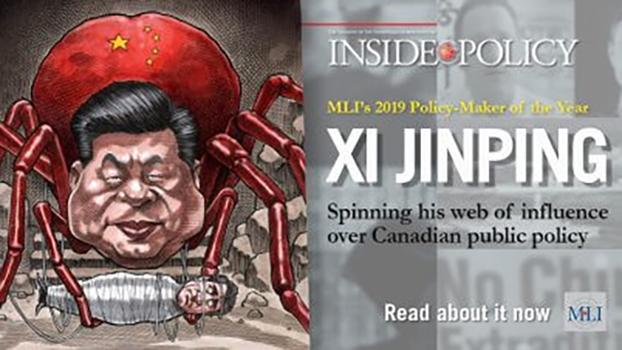 由加拿大智库麦克唐纳-劳里埃研究所出版的刊物选择了中国领导人习近平作为2019加拿大年度決策者(Policy Maker of the Year) (麦克唐纳-劳里埃研究所网站)