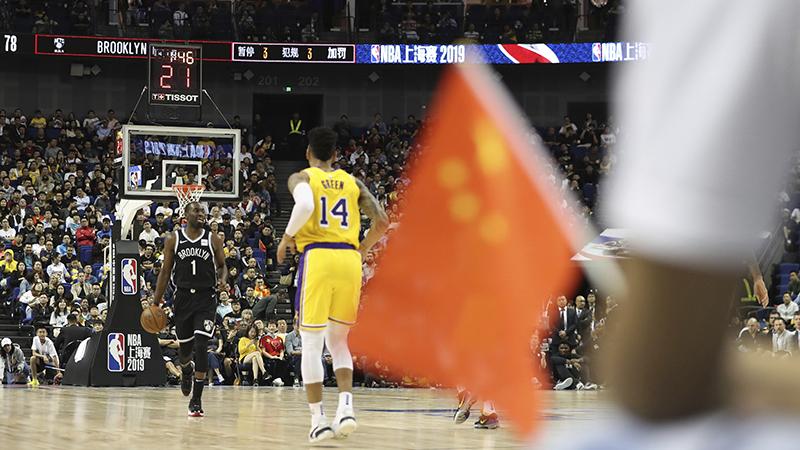 2019年10月10日舉行的NBA上海賽2019(美聯社)