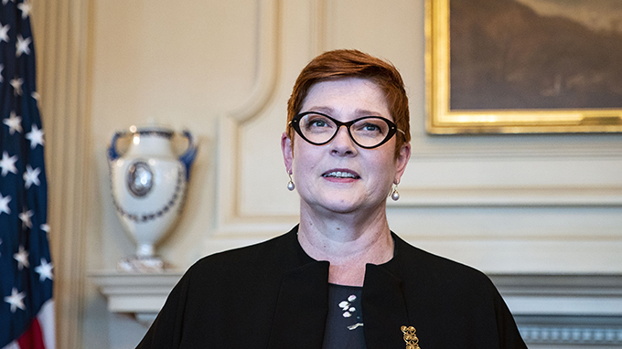 澳大利亚外长佩恩(Marise Payne)(美联社)