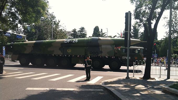 中国制造的东风-26型中程弹道导弹(维基百科)