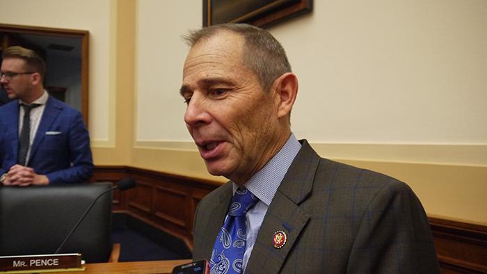 共和党籍的联邦众议员匡希恒(John Curtis),是众议院版的《台北法案》提案人。(自由亚洲电台记者郑崇生摄)