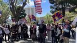 旧金山多族裔游行集会   呼吁抵制北京冬奥会