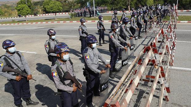 2021年2月1日,缅甸军方发动政变,逮捕了包括昂山素季在内的民盟和缅甸现政府高官。(美联社)