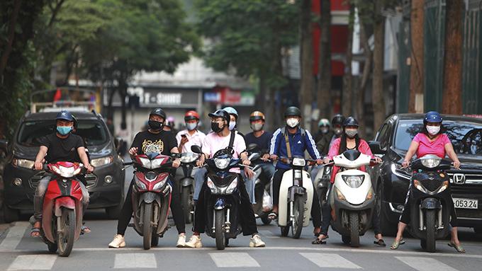 疫情下的越南首都河内(美联社)