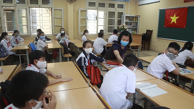 正在上课的越南一所学校(美联社)