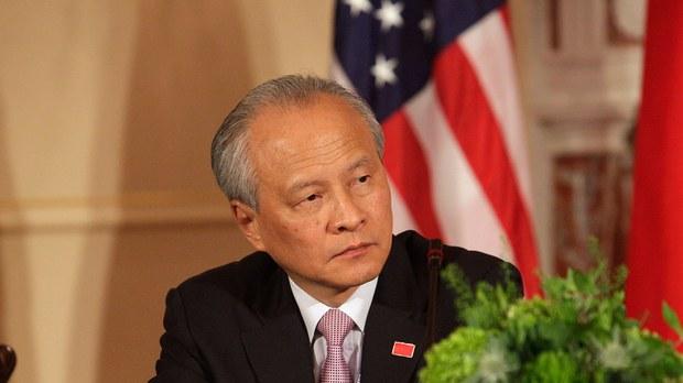 即將離任的中國駐美國大使崔天凱(法新社圖片)