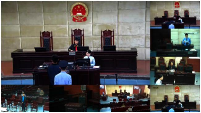 中国曝光王立强庭审画面。(环球网)