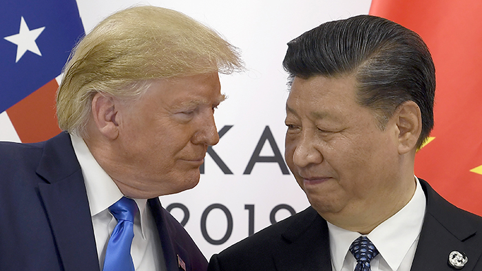 美国总统特朗普与中国领导人习近平(美联社)