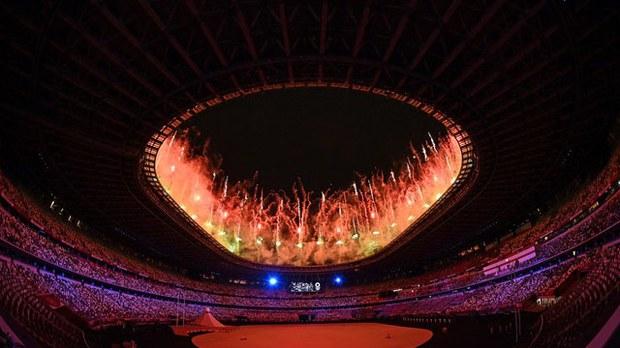2021年7月23日舉行的東京奧運開幕式