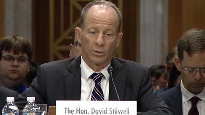 美国国务院主管东亚及太平洋事务的助理国务卿史达伟(David R. Stilwell )(视频截图/美国国会)