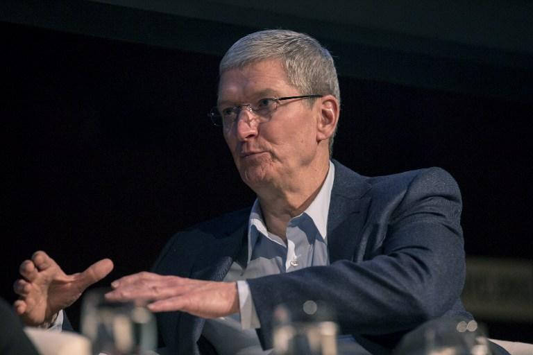 图片:美国苹果公司总裁蒂姆•库克。(法新社)