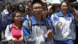 参加高考的中国学生。(美联社资料照片)