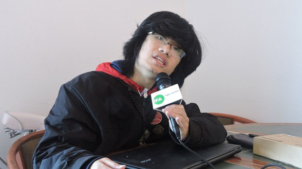 """网络青年宋潇伟谈国内翻墙软件开发者被""""人肉""""事件(CK摄).jpg"""