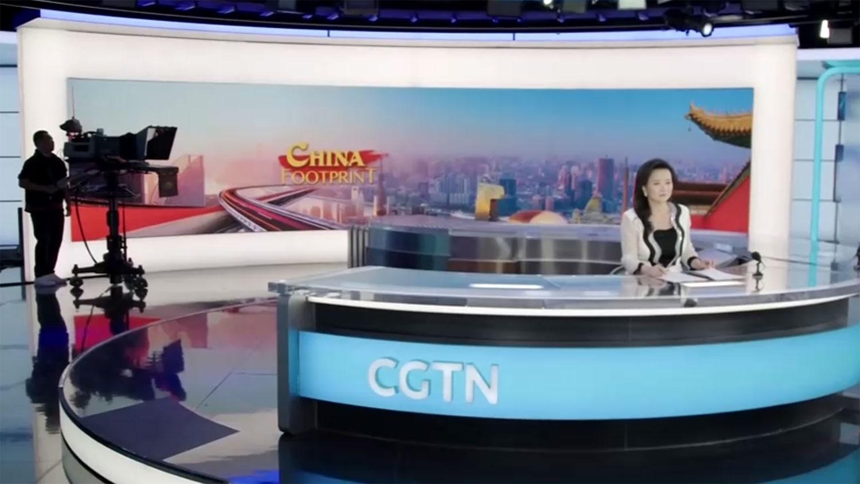 环球电视网澳大利亚籍华裔主持成蕾(路透社/视频截图)